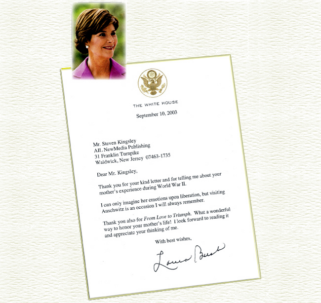 First Lady Laura Bush's letter